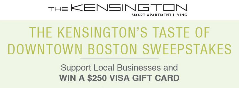The Kensington's Taste of Downtown Boston Sweepstakes!